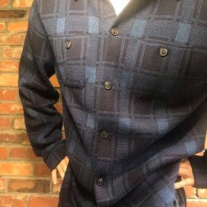 Lucky Brand Plaid Sweater Shirt: XL